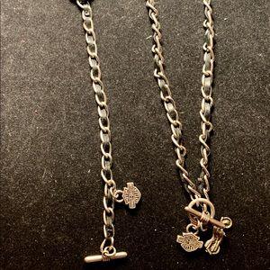 Harley Davidson Silver & leather Jewelry